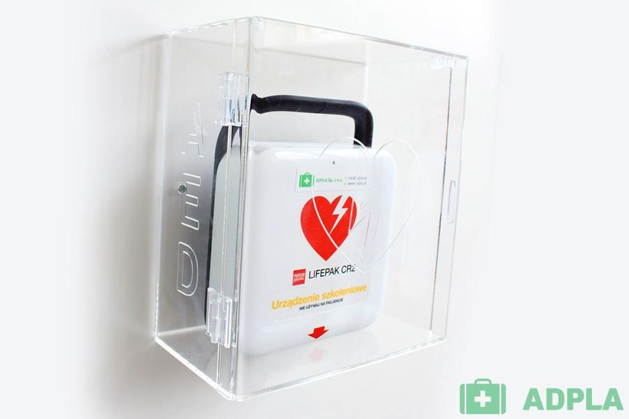 Szafka AED ścienna z plexi do defibrylatora LIFEPAK