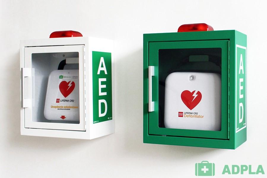 Szafka AED ścienna metalowa z alarmem