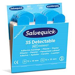 Plaster wykrywalny Salvequick Blue Detectable Cederroth 51030127
