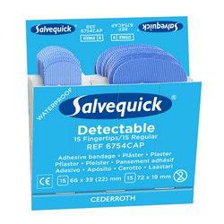 Plaster wykrywalny Blue Detectable Salvequick Cederroth 6754CAP